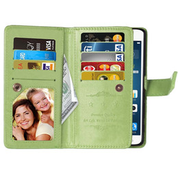 samsung galaxy j1 mini pouch NZ - For Samsung Galaxy A510 J1 Mini J120 J3 Pro J510 J710 2016 J7 Multifunction Wallet Leather Case 9 Cards Pouch Money Luxury Purse Cover