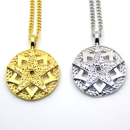 Star Jewellery Canada - Hip Hop Bling Star Five-pointed Star Pendant Necklaces For Men Jewellery N642