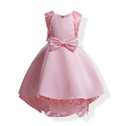 baby girls tops designs UK - Fashion new design Baby Girls princess lace Dress Christmas Tutu skirt Kids Birthday Party Dress top quality