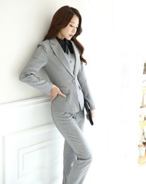 Barato Uniformes Mulher De Negócios-Atacado-Outono e Inverno Formal Blazer Mulheres Business Suits com Pant + Jaqueta + Waistcoat Sets Pantsuits Senhoras Office Uniform Estilos