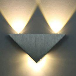 Art deco bAthroom light fixtures online shopping - Led Wall Lamp W Aluminum Body Triangle Wall Light For Bedroom Home Lighting Luminaire Bathroom Light Fixture Wall Sconce