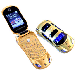 yellow color dual sim phones Australia - Original Newmind F15 Flip LED light Dual SIM card Camera Bluetooth Luxury Unlocked Car mobile Cell Phone cartoon kids cellphone