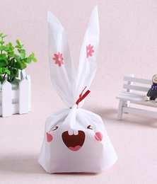 Biscuit snack Bags online shopping - New Arrive pack cute rabbit ear cookie bags Self adhesive Plastic Bags for Biscuits Snack Baking Package food bag