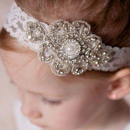 Babies Hair Wearing Headbands Australia - Sweet Toddler Baby Girls Crystal Headbands Party Wedding Headbands Hair Wears with Rhinestone Christmas Gifts