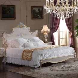 Kings furniture online shopping - High end classic furniture bedroom baroque style queen bed high end classic king bed size