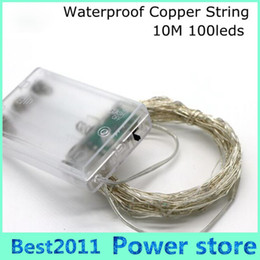$enCountryForm.capitalKeyWord Australia - 10M 33FT 100 led 3 AA Battery Powered Decoration LED Copper Wire Fairy String Lights Lamps for Christmas Holiday Wedding Party