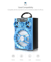 drive big 2019 - LED Mobile Multimedia 15W MS-188BT Multi-functional Wireless Bluetooth Speaker Big Drive Unit Bass Colorful Backlight FM