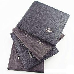 Discount fine men - 2016 New Vintage Men's Wallet Fine Bifold Brown PU Leather Money Purse Wallet Wallet For Men