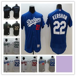 f57b912cf ... good 2016 mens los angeles dodgers 22 clayton kershaw authentic jersey  blue white grey f8fbe 04bae