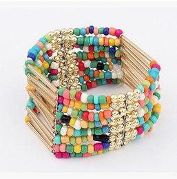 $enCountryForm.capitalKeyWord Canada - 2016 Fashion Bohemia Style Fringed Beads Bracelet Multi-layer Beaded Strands Bracelet Jewelry Bracelets For Women Christmas Gifts