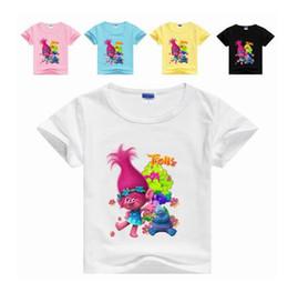 af2a89b3c 2017 boys girls clothes Children t shirt cotton short sleeve t-shirt with trolls  cartoon summer kids boy girl clothes new