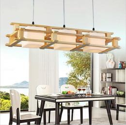 Hall oaks online shopping - Modern OAK led pendant light wooden glass chandeliers lighting fixture heads home lighting for living room decoration