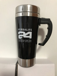 pink stainless mug NZ - 2016 New Herbalife Nutrition Mixing Cup   Mug Drinkware Stainless Steel Coffee Cup Mug Self Stirring Automaticl Mixing Cup