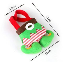 Christmas Decorations Striped Canada - 2016 Hot Sale Elf Santa Pants Christmas Candy Gift Bag Xmas Wedding Party Decorations Free Shipping