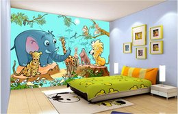 $enCountryForm.capitalKeyWord Australia - 3d room wallpaper custom photo mural Cute cartoon forest zoo animal tv sofa background wall painting 3d wall murals wallpaper for walls 3 d