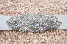 Discount rhinestone cheap wedding belt - Fashionable Bridal Sashes and Belts Wedding Dress Sash for Wedding Beaded Rhinestone Crystal Wedding Belt Cheap