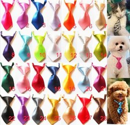 $enCountryForm.capitalKeyWord Canada - 100 pcs Fashion solid color and candy color Polyester Silk Pet Dog Necktie Adjustable Handsome Bow Tie Necktie Grooming Supplies P8