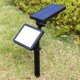 Wall solar spot lights online wall solar spot lights for sale new arrival led lawn lamp outdoor solar powered 48 leds wall spotlight garden street lamp spot lights outdoor landscape lighting aloadofball Image collections