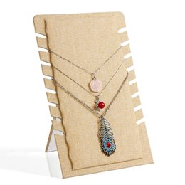 $enCountryForm.capitalKeyWord Canada - linen necklace display shelf pendant exhibition board stand fashion jewelry holder rack necklaces hanger frame jewelry display