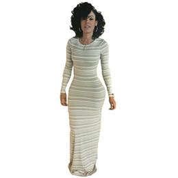 020938d7e39 DS241 Womens manga larga rayas largas ocasionales vestidos maxi vestido  para otoño primavera otoño invierno mujer vestido más el tamaño S-XL
