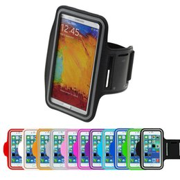 Iphone Accessories Running Canada - Wholesale-Armband FOR  GALAXY Note 3 Lite (N7505) Gym Jogging Running Workout Sport Bag Arm band Cell Phone Accessory Cover 5.5""
