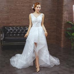 Discount Low V Neck Boho Wedding Dress   2017 Low V Neck Boho ...