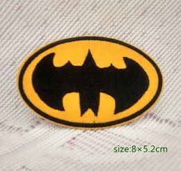 Superhero Shirts Wholesale Canada - Batman Bat Signal Logo DC Comics Superhero Iron-On Applique Patch Dark Knight Cap Bag Shirt Kids Toy Gift baby Decorate Individuality 10pc