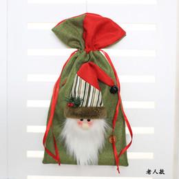$enCountryForm.capitalKeyWord Canada - hot christmas gift bag Santa Claus elk snowman mini candy decoration present handle bag flatten 3D design for kids girls friends family