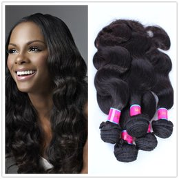Hair Straightening Products Wholesale NZ - 5 Bundles Per Lot Unprocessed Indian Hair Body Wave Rosa Products 6A Grade 100% Human Hair Weave Hair Products Bundles