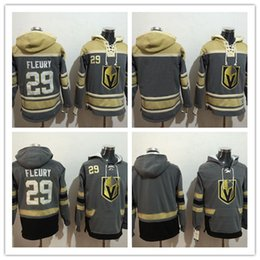 3c85acc7959 ... 2017 News Mens Ice hockey jerseys Fleece Hoodie Vegas Golden Knights 29  Marc-Andre Fleury Old Time Hockey Colorado Avalanche 19 Joe Sakic ...