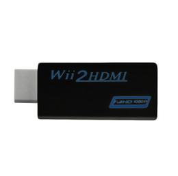 Venta al por mayor de WII TO HDMI, WII 2 HDMI Converter compatible con adaptador de mejoramiento de salida HD 720P 1080P HD, negro