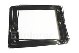 Vente en gros Nouvelle lunette originale milieu de châssis moyen en plastique avec de l'adhésif noir blanc pour cadre iPad 2 3 4 Bezel Lot 50pcs