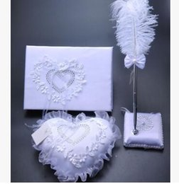 $enCountryForm.capitalKeyWord NZ - 2017 Hot sell Europe and America wedding products 3 sets of creativeringpillow+signbook+featherpen