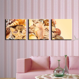 beautiful pictures animals NZ - Beautiful Various of Shell Paintings Modern Art Realist Sea Animal Shell Picture Wall Painting Living Room
