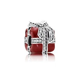 $enCountryForm.capitalKeyWord Canada - Fit pandora Gift silver charms 925 sterling silver loose beads ribbon charm for thread bracelet fashon jewelry authentic quality