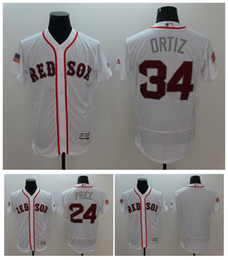 52dc4bd6f28 White Stars Stripes Fashion Independence Day Stitched 2016 New Fashion  Stars Boston Red Mens Boston Red Sox David Ortiz Majestic ...