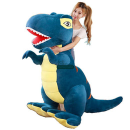 crazy toys for kids UK - Dorimytrader Large Simulated Animal Tyrannosaurus rex Plush Toy Stuffed Anime Dinosaur Doll Crazy Gift for Kids 205cm 81inch DY61706