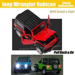 jeep diecast model cars Canada - 1:32 Scale Luxury Diecast Alloy Metal Car Model For Jeep Wrangler Rubicon Collection Off-road Vehicle Model Toys Car