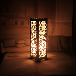 $enCountryForm.capitalKeyWord Canada - Decorative table lamp vintage Wood Plastic Rustic Style Brief Modern Lampshade Living Room Bedroom 110-220V desk light