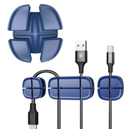 New Fashion Caldecott 4pcs Cable Clip Desk Tidy Wire Drop Lead Usb Charger Holder Mouse Cable Cord Organizer Holder Secure Tidy Wire Table Cable Winder Accessories & Parts