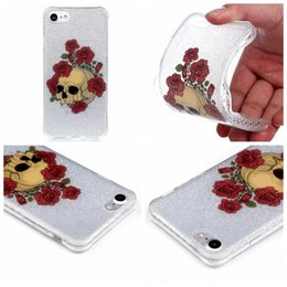 $enCountryForm.capitalKeyWord Canada - For Iphone 7 I7 Plus 7P 6 6s SE 5 5S Bling Glitter Flower Cartoon Dog Blossom Butterfly Skull Soft IMD TPU Case Doughnut Dreamcatcher Cover