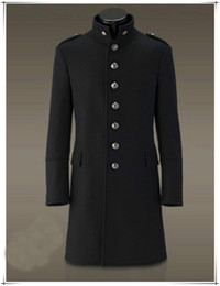 Black Military Wool Trench Coat Online | Black Military Wool ...