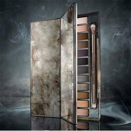Professional 12 Colors Eyeshadow Makeup Palette Canada - 2015 Newest Smoky Palette 12 Color Eyeshadow Palette 12*1.3g Eyeshadow Professional Makeup Wholesale DHL Free