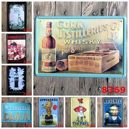 Bar Paintings Australia - Random delivery 10 PCS bundled sale 20*30 CM Vintage Metal Painting Tin Signs Bar Pub Home Cafe Decor Mural Poster Metal Craft