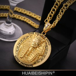 egypt pendants Australia - 2015 New Hip Hop Pharaoh of Egypt Pendant Necklace With Corn Chain 24K Gold Plated , hign quality and free shipping