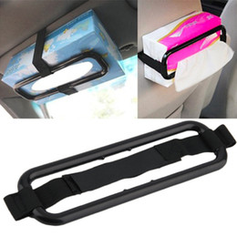 Tissue box holders online shopping - Multifunctional Tissue Paper Box Holder Cover Auto Accessories Paper Napkin Seat Back Bracket Car Styling Sun Visor Louver Shield Stand Belt