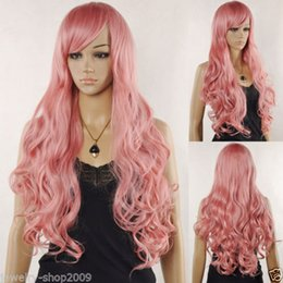 Vocaloid Cosplay Luka Canada - Free Shipping New High Quality Fashion Picture full lace wigs>> New Cosplay Vocaloid Luka Ruka Magnet Long Wavy Pink Color Wig