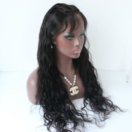french lace top wigs wavy UK - Top Brazilian Wet and Wavy Human Hair Wigs Brazilian Water Wave Lace Front Wigs Glueless Full Lace Wigs Bleached Knots for black woman