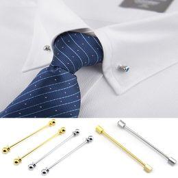$enCountryForm.capitalKeyWord Australia - Fashion Men's Brooch Business Tie Collar Pin Brooch Tie Stick Lapen Pin Shirt with Collar Bars Jewelry Wedding tie clips