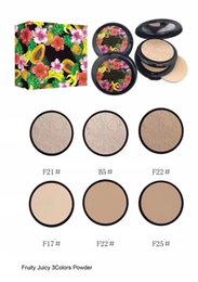 Poudre De Couleur Différente Pas Cher-NOUVEAU Fruity Juicy Collection Face Powder Double-deck 3 different color free shipping